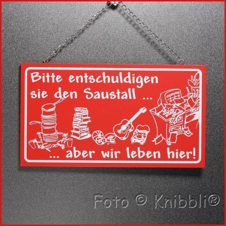 Vollfarbe Schild 10x18 Spruch 09