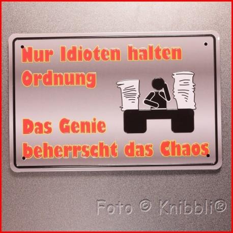 Metall Schild 12,5x19 cm Prägung Spruch 08
