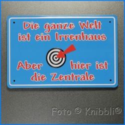 Metall Schild 12,5x19 cm Prägung Spruch 09