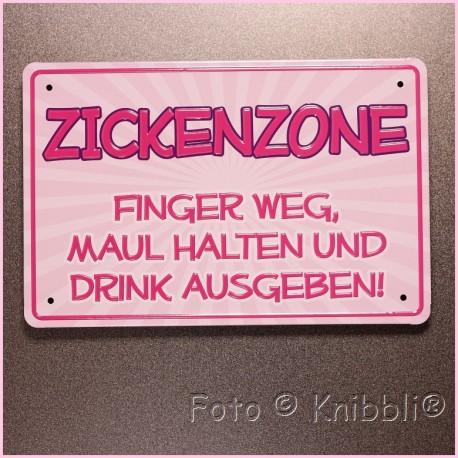 Metall Schild 12,5x19 cm Prägung Spruch 11