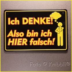 Metall Schild 12,5x19 cm Prägung Spruch 12