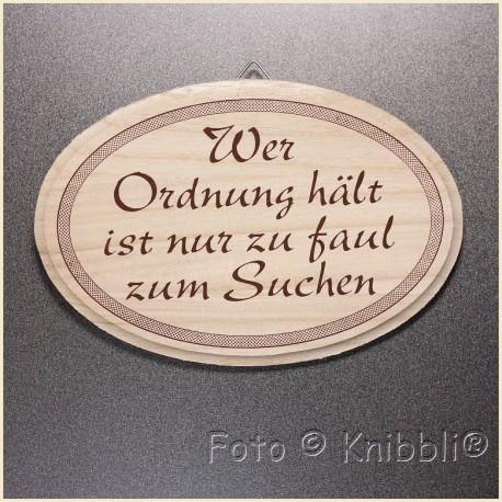 Schild Holz ca 12,5x18,5cm Spruch 19