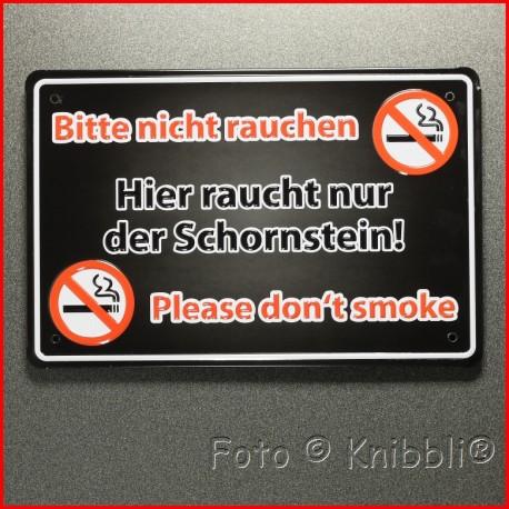 Metall Schild 12,5x19 cm Prägung Spruch 13