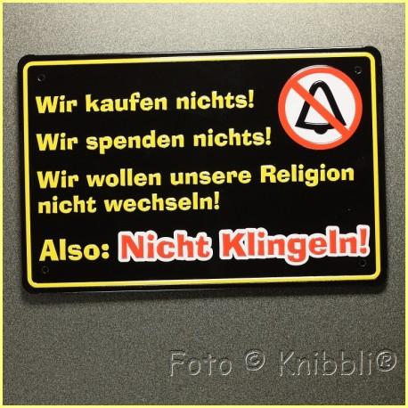 Metall Schild 12,5x19 cm Prägung Spruch 15