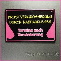 Metall Schild 12,5x19 cm Prägung Spruch 18