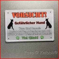 Metall Schild 12,5x19 cm Prägung Spruch 19