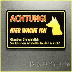 Metall Schild 12,5x19 cm Prägung Spruch 20
