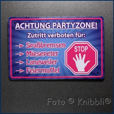 Metall Schild 12,5x19 cm Prägung Spruch 21