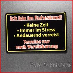 Metall Schild 12,5x19 cm Prägung Spruch 24